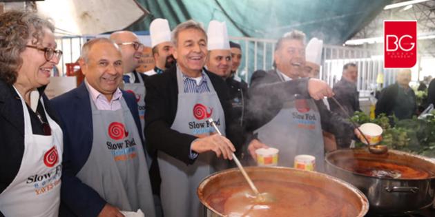 Bodrum Pazarında Tarhana Çorbası ve Peksimet Dağıtıldı…