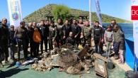 Gümüşlük'te Deniz Dibinden 512 Kilo Çöp Toplandı
