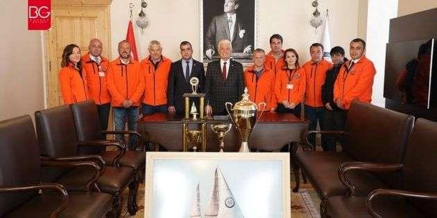 Bodrum Cup'ın Başarılı Ekibinden Başkan Gürün'e Ziyaret…