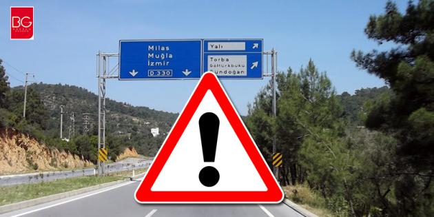 Dikkat!!! Bodrum Kızılağaç ile Torba Kavşağı Salı Gününden İtibaren Trafiğe Kapalı