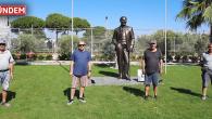 Bodrum Yahşi'de Bulunan 50. Yıl Sitesine Atatürk Heykeli Yaptılar