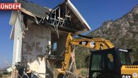 Belediye bir kaçak yapıyı daha yıktı