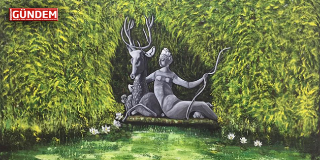 """Ressam Esra Yaman'ın """"Geçmiş Bugünde Bugün Geçmişte"""" Resim Sergisi açılıyor"""