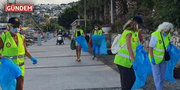 Bodrum Rotary Kulübü Üyeleri Kıyıları Temizlediler
