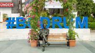 Atatürk'ün Bankta Oturan İlk Heykeli Bodrum Belediye Meydanında