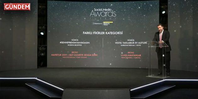 Bodrum Belediyesi'ne Sosyal Medyada Üç Ödül Birden