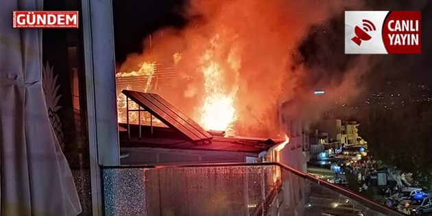 Bodrum Marina Caddesinde Yangın – Bodrum'da Son Dakika